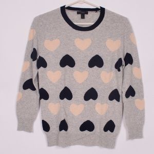 J Crew Heart sweater